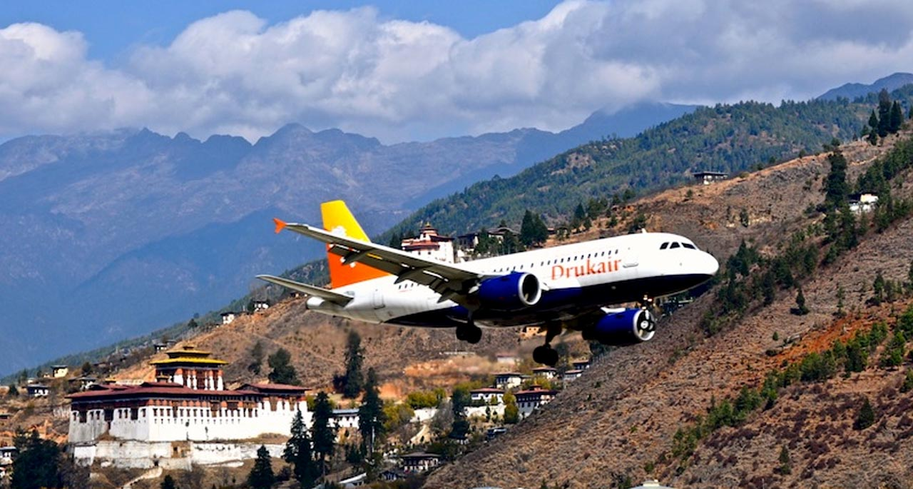 flights to bhutan